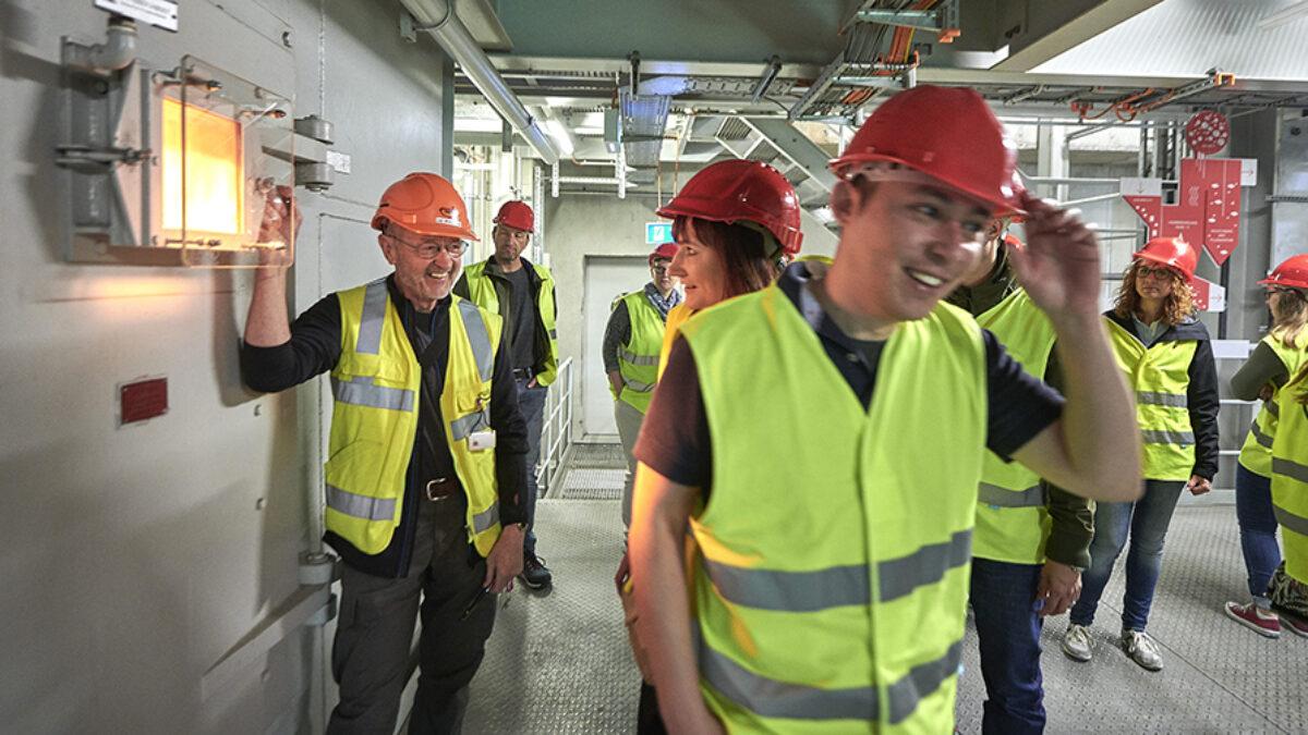 People during opening of Erlebnis Energie at EWB