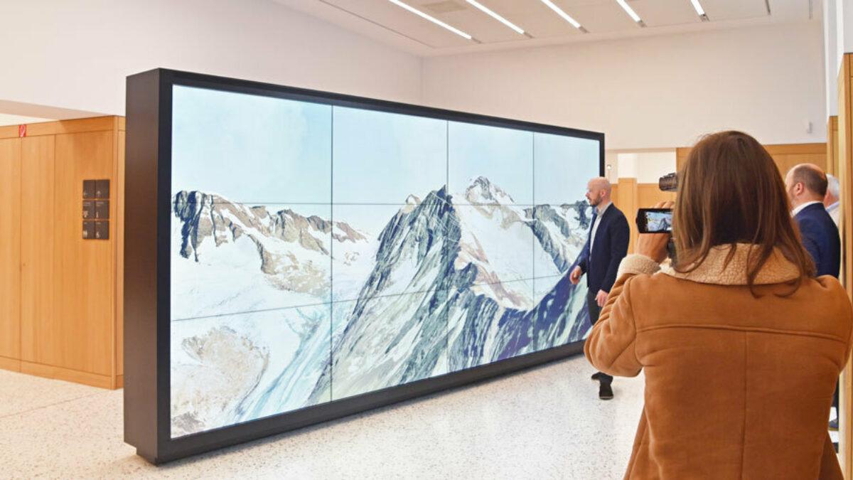 media wall at the Swiss National Bank