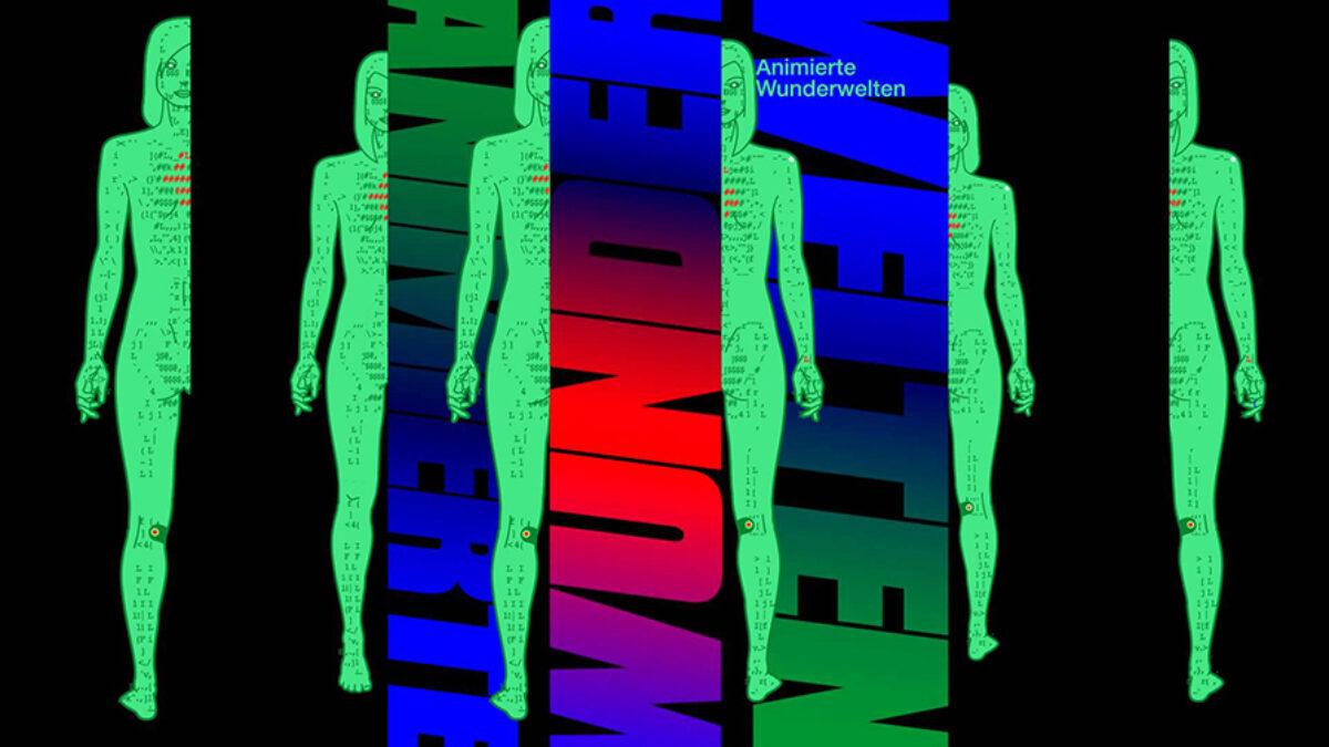 exhibition flyer Animierte Wunderwelten