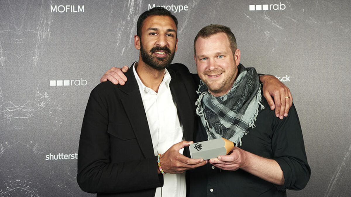 Asif Khan and Mathis Meyer holding D&AD award