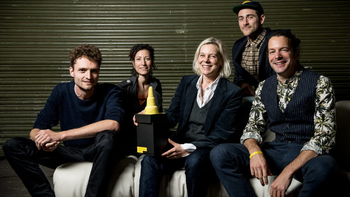 iart team with Design Prize Switzerland trophy