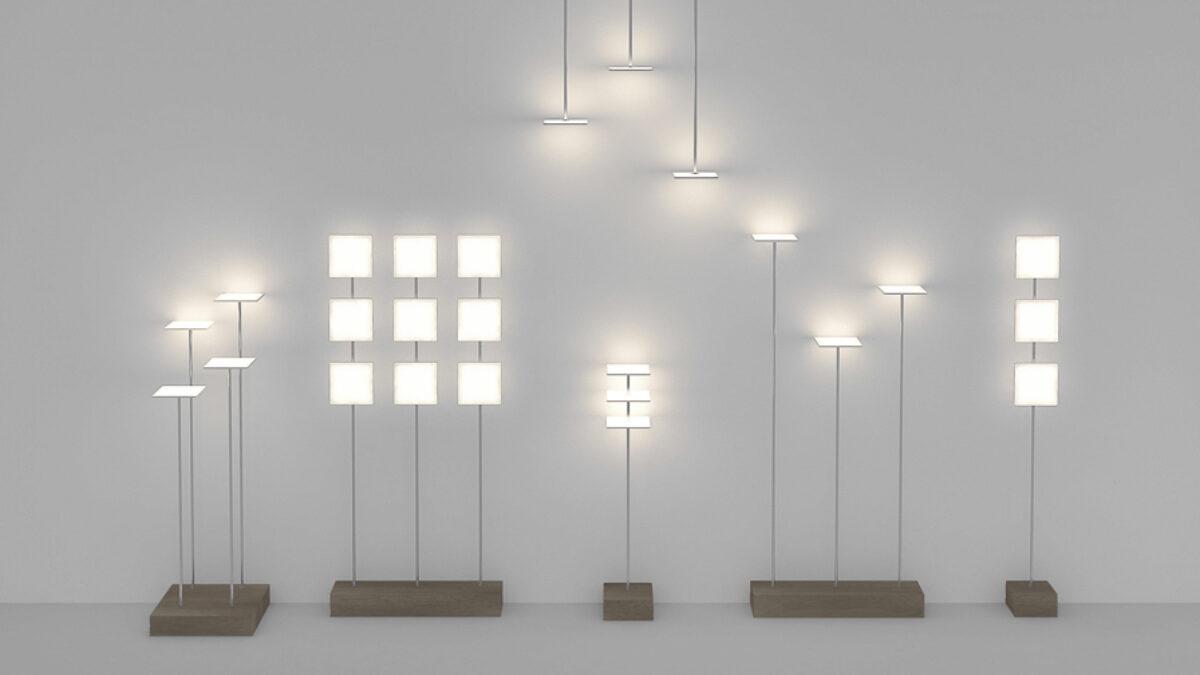 six OLED luminaires