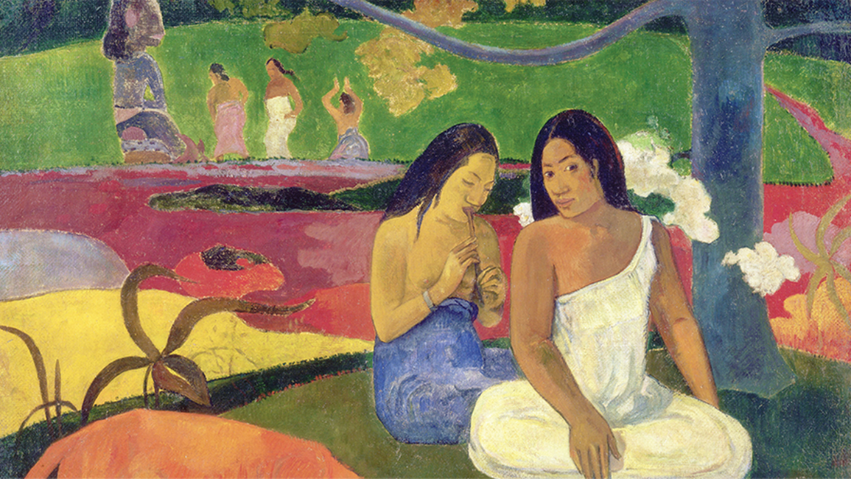 Painting Arearea by Paul Gauguin