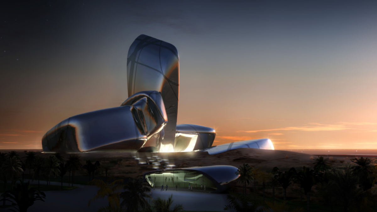 exterior view of planned king abdulaziz center for world culture