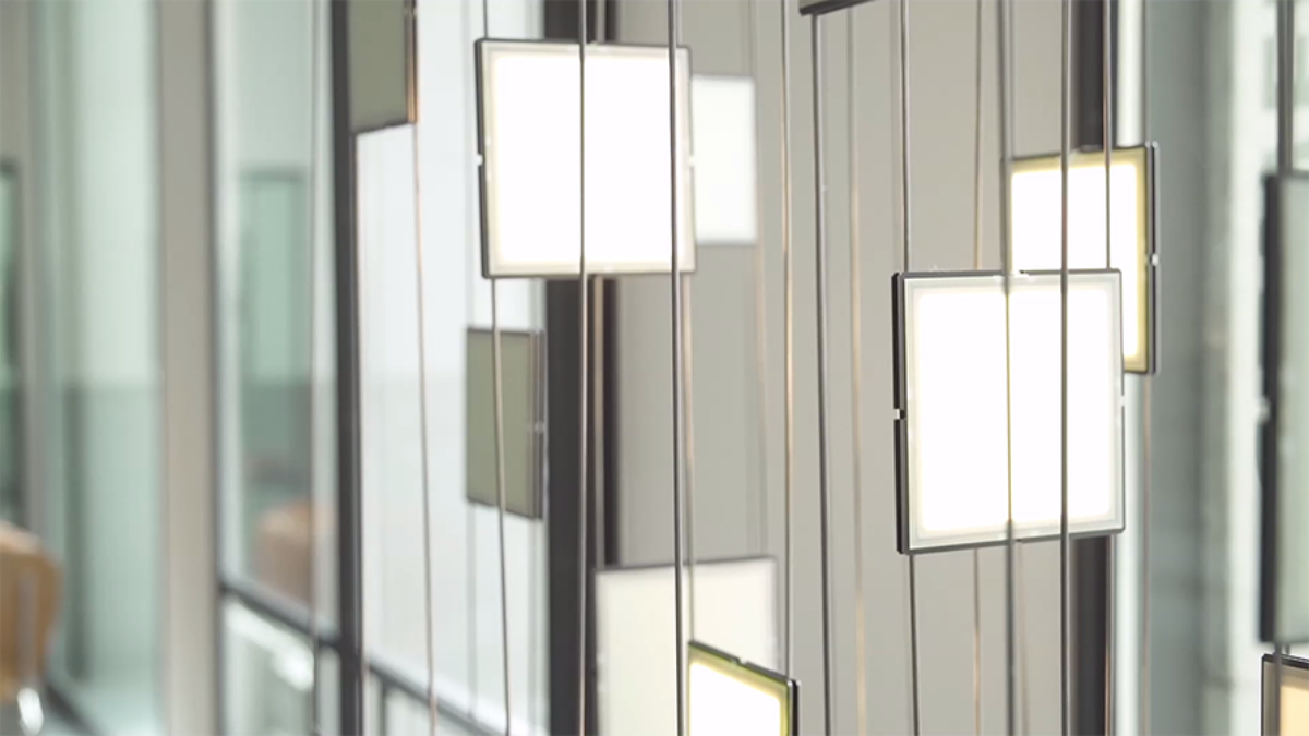 OLED light installation at Gewerbemuseum Winterthur