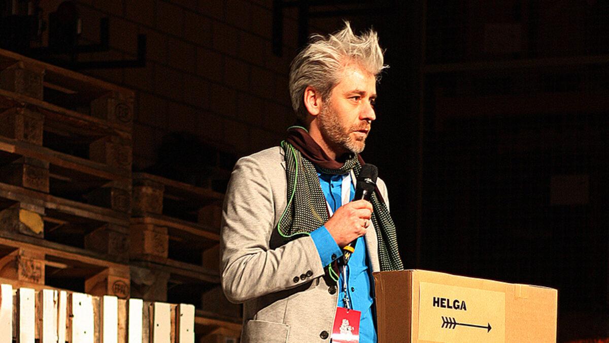 Valentin Spiess speaking at Helga 2015