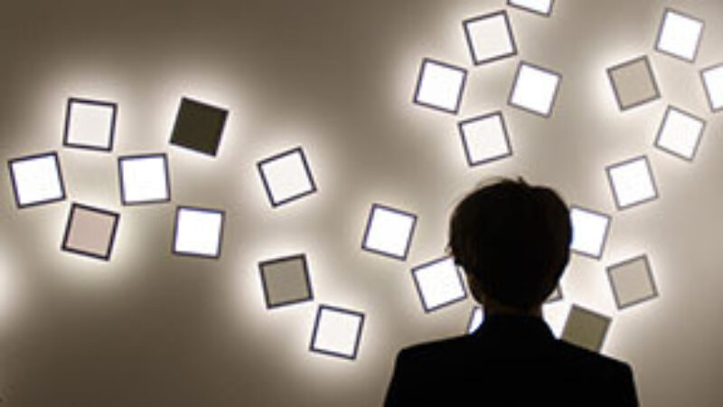 interactive light installation with OLED