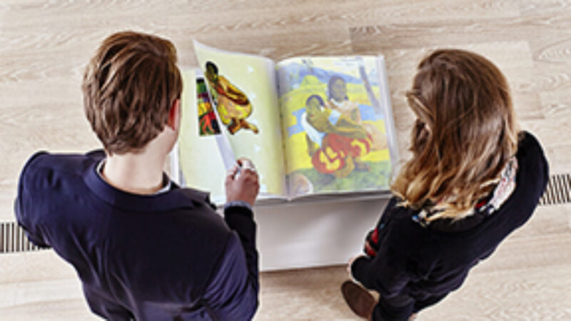 interactive book on Paul Gauguin at the Fondation Beyeler