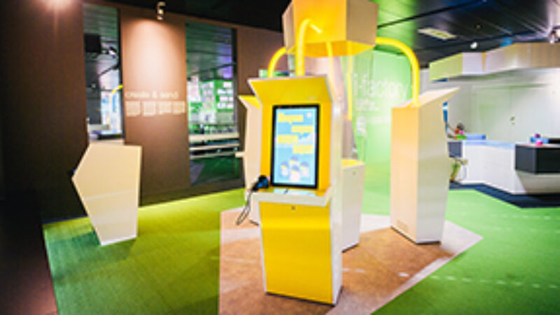 media exhibits at the Swiss Museum of Transport