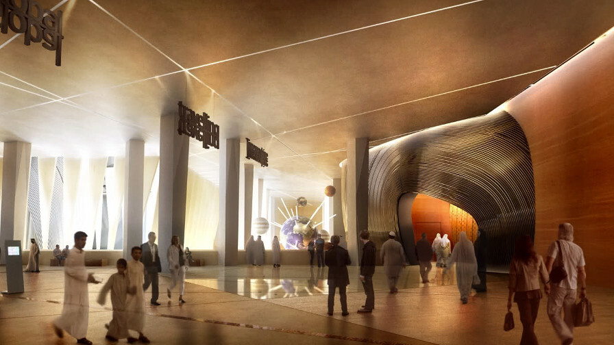 interior view of planned king abdulaziz center for world culture