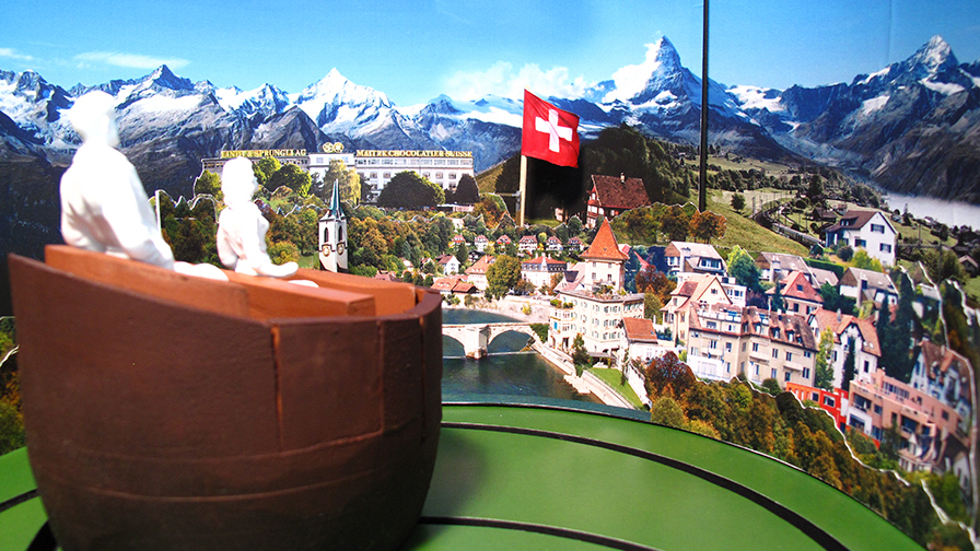 paper model swiss chocolate adventure