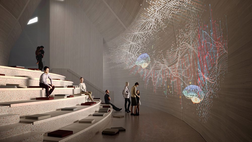 Novartis pavillon interior rendering
