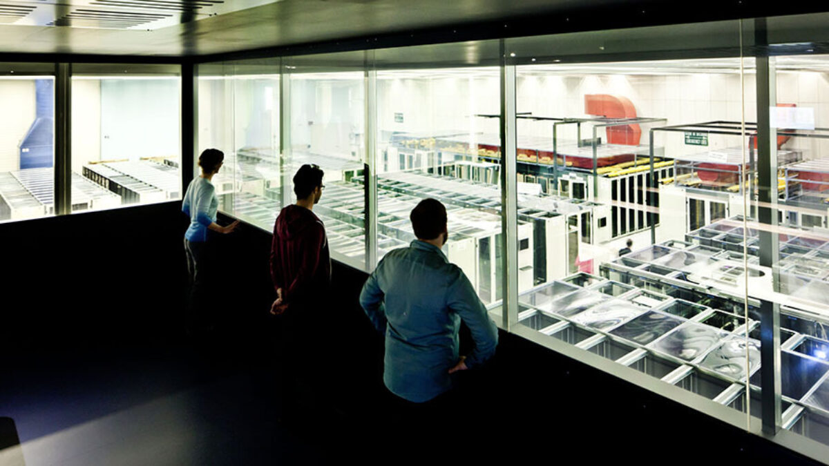 CERN Visit Point Window into Server Room