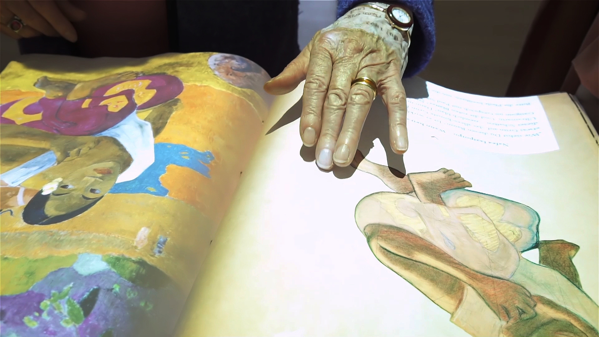 Fondation Beyeler Paul Gauguin Exhibition Interactive Book Hand touching
