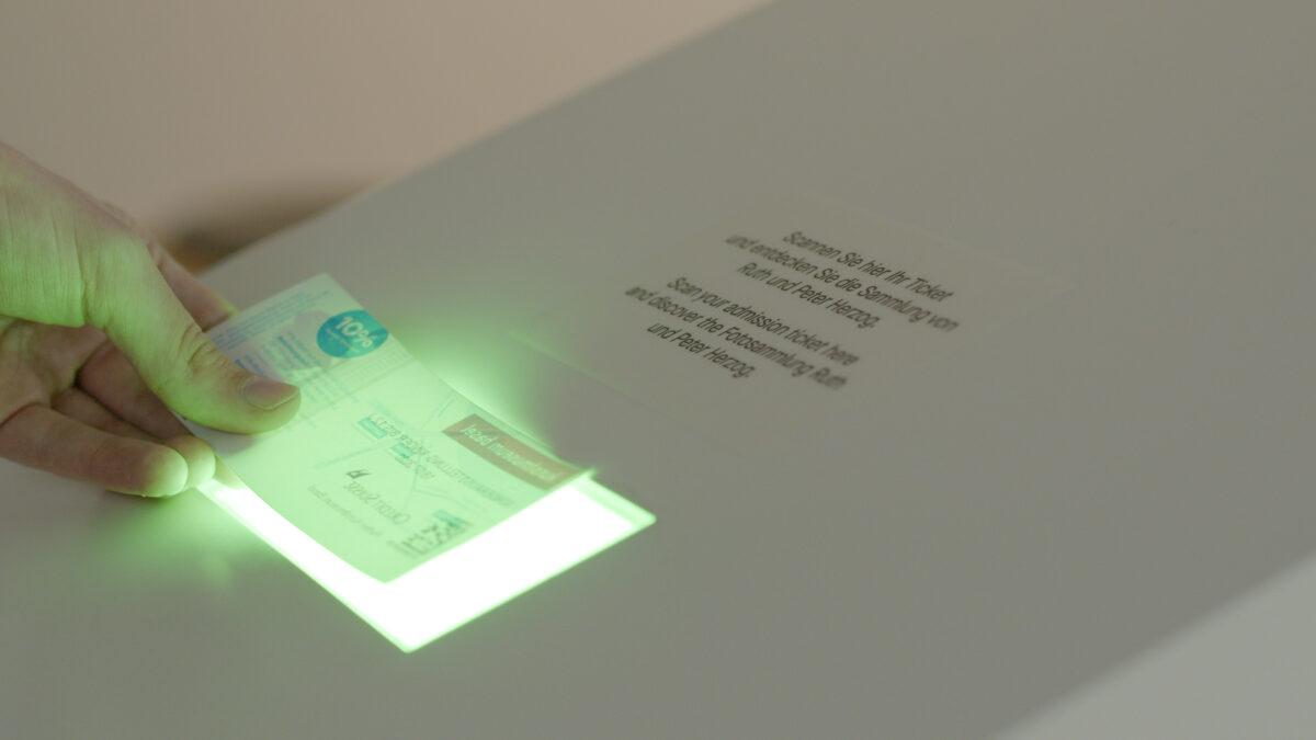 Kunstmuseum Basel Interactive AI Installation KI-Installation Ticket Scanning