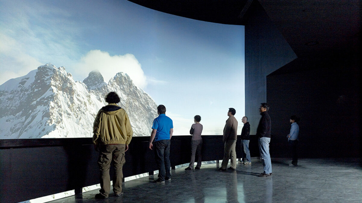 Expo 2010 Shanghai Swiss Pavilion Panorama Projection Mountains