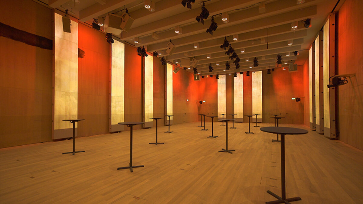 Swiss Re Next Auditorium Apéro Installation LED-Panels